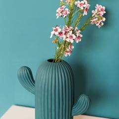 干花花瓶摆件家居饰品小清新客厅创意摆设陶瓷仙人掌插花小工艺品