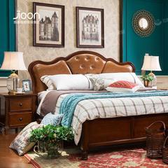 H06BG简欧家具名仕简美系列深色两抽实木床头柜