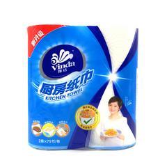 维达厨房卷纸2层75节2卷厨房专用去油污卫生纸巾 2包装