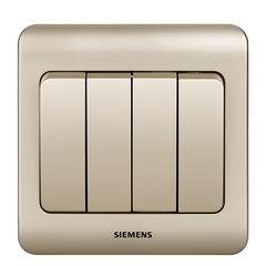 西门子(SIEMENS)开关插座 远景系列 四开单控 四开双控面板 (金棕色)