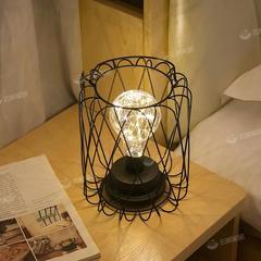 北欧风铁艺铜丝灯台式小夜灯房间卧室网红少女心背景灯装饰电池灯
