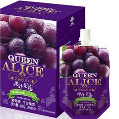 旺旺Queen Alice艾丽思皇后 果汁吸吸冻果冻葡萄味 120g/袋