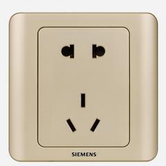 西门子(SIEMENS)开关插座 远景系列 10A五孔插座面板 (金棕色)