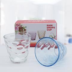 多彩雨点玻璃杯6个装