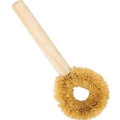 斯里兰卡进口厨房锅刷不易粘油长柄刷植物纤维刷头不伤锅木柄长刷