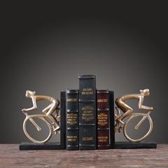 北欧家居美式乡村复古书房办公室装饰摆件书靠书挡软装电视柜摆件