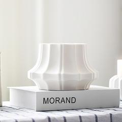 北欧简约客厅台面陶瓷仿真花花瓶摆设创意维也纳装饰柜摆件