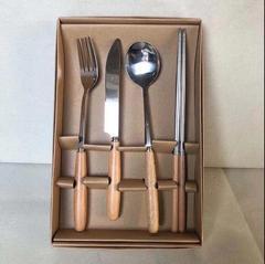 不锈钢筷子叉子刀勺子4件套