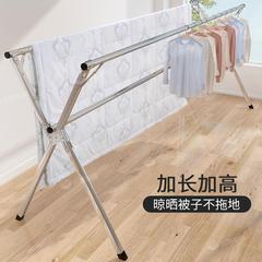 折叠晒衣架落地室内家用阳台简易卧室凉衣架晒架晾衣杆不锈钢伸缩
