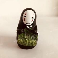 可爱无脸男玩偶公仔新款创意迷你小摆件小兔子萌宝猪仔树脂工艺品