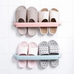 可折叠浴室拖鞋架壁挂免打孔厕所墙上沥水收纳神器卫生间置物架子