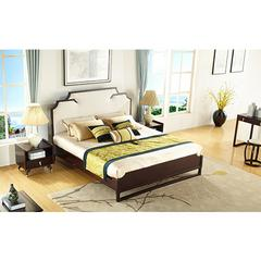 YD 新中式实木卧室布床实木床A6101
