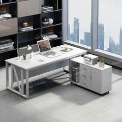 老板桌办公桌简约现代总裁办公室桌椅组合大气单人大板桌办公家具