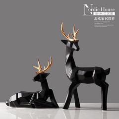 贝汉美北欧家居客厅摆件电视柜酒柜桌面书房结婚礼物麋鹿装饰品
