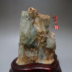 天然水晶 簇洞柱 原石矿奇石 精品观赏石 摆件消磁石英 绿水晶