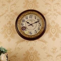 包邮丽盛欧式挂钟复古欧式摇摆钟表静音客厅挂钟创意石英钟表