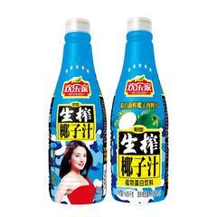 欢乐家生榨椰子汁植物蛋白型果肉型椰汁/1.25L