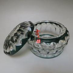 民国时期 波西米亚 水晶糖罐 钻石切割 古玩杂项 老物件 收藏西洋古董