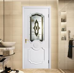 威纳木门  木门室内门白色烤漆门静音门实木套装门玻璃卫生间门定做y-6218