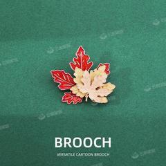 秋天的枫叶胸针ins潮个性可爱日系别针复古珐琅男女金属徽章装饰