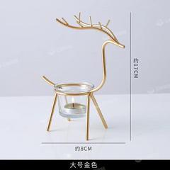 北欧风铁艺麋鹿蜡烛台小摆件创意浪漫餐桌烛光晚餐家用装饰品道具