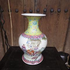 大清光绪年制粉彩瓶 保老保真到代 无瑕疵 古玩瓷器