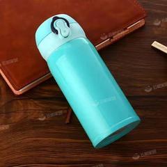 韩版可爱水杯大容量绿色保温杯350ml