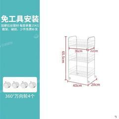 小推车置物架卧室储物层架零食收纳架子厨房置物架落地多层蔬菜架