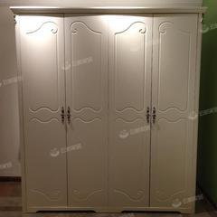 衣柜实木现代简约四门大衣橱小户型主卧家用卧室轻奢木质家具柜子