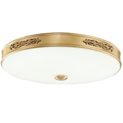 艾特丽  全铜灯-卧室书房餐厅全铜吸顶灯-6833
