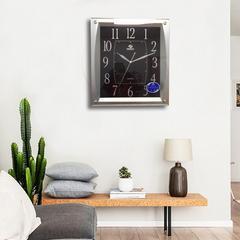 客厅挂钟 现代简约免打孔 家用 北欧电子钟大气墙壁时钟霸王钟表