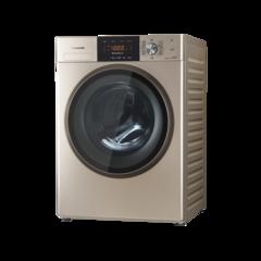 松下(Panasonic)8公斤家用静音全自动滚筒洗衣机 XQG80-E8526 金色