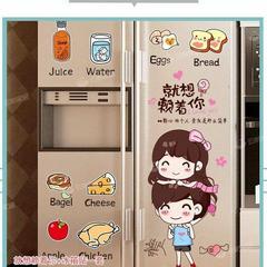 卡通可爱创意厨房冰箱贴纸装饰门贴画北欧空调改造翻新贴膜可移除