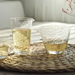 锤纹玻璃茶杯公道杯红茶杯分茶器玻璃茶具
