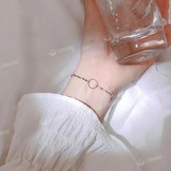 几何圆圈瓦片手链女韩版学生简约个性清新ins小众冷淡风闺蜜手环