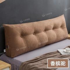简约床头靠垫三角纯色大靠背枕软包可拆洗双人榻榻米飘窗护腰靠垫