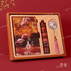 手账本书签套装古典中国风笔记本子礼盒复古手帐本古风网红手账本