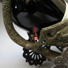 法国红酒架 纯铜嵌珐琅彩 礼炮车 保真保老 古玩杂项老物件 秒杀