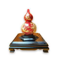 漆线雕(厦门)喜福临门 陶瓷器工艺品摆件 纯24k金箔手工打造
