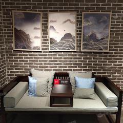 桃花心木罗汉床实木新中式客厅禅意沙发简约现代(自提免运费)