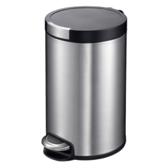 EKO欧式创意不锈钢垃圾桶家用卫生间客厅卧室脚踏式小号有带盖筒