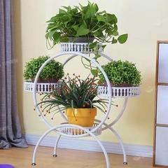 铁艺多层花架可移动推拉带轮落地式花盆架客厅绿萝花架子阳台