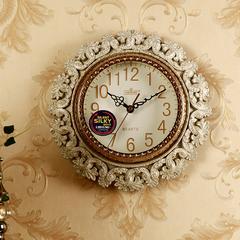 丽盛欧式挂钟客厅现代简约静音创意复古挂表个性家用卧室石英时钟
