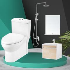惠达浴室柜卫浴套餐组合 HDC6151,HDFL051-C6,HDB228LY