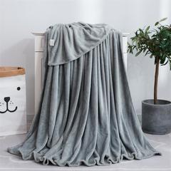 纯色毛毯珊瑚绒毯子法莱绒瑜伽盖毯(颜色随机)