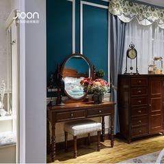 H01TD-503*382*450简欧家具深色简美梳妆凳