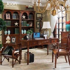 1380*760*760简欧家具名仕简美系列深色书桌