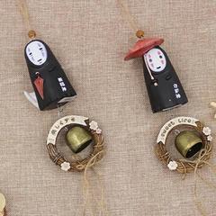 创意礼品小木屋叮当猫风铃田园风格小房子挂件女生卧室门窗装饰品