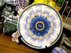 西洋Wedgw*od绝版老货2005年十二星座全年日历陶瓷纪念盘装饰摆盘