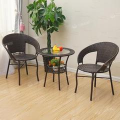 阳台桌椅藤椅三件套组合简约现代休闲户外室外庭院小茶几单人椅子